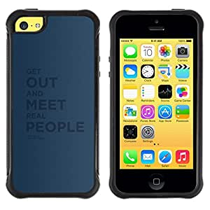 Fuerte Suave TPU GEL Caso Carcasa de Protección Funda para Apple Iphone 5C / Business Style Real People Quote Relationship Friendship