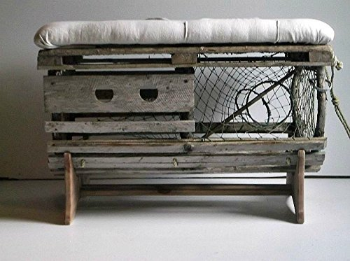 Astounding Rustic Lobster Trap Restoration With Original Hardware Upholstered Tufted Ottoman Coffee Table Andrewgaddart Wooden Chair Designs For Living Room Andrewgaddartcom