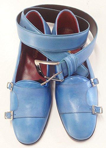 scarpe uomo in vitello patinato doppia fibbia