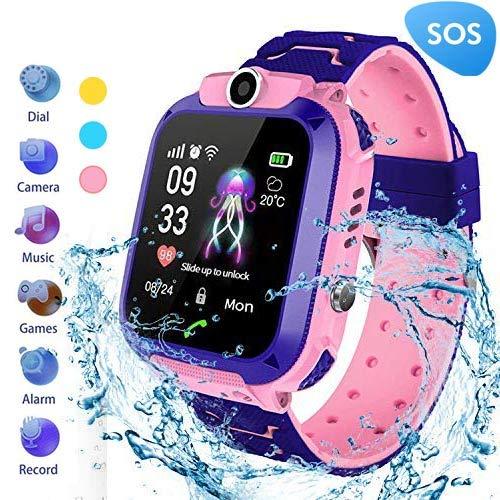 MUXAN Kids Smartwatch Reloj de Pulsera Inteligente Impermeable IP67 con SOS Reloj Despertador Reloj Digital Antorcha de cámara Juegos para niños ...