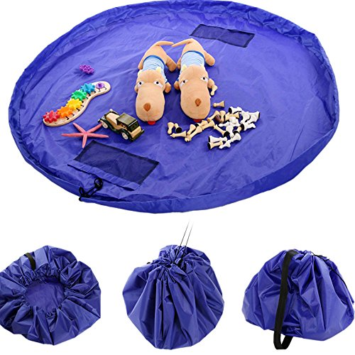 FINEJO New 150cm Portable Toy Storage Bag and Kids Play Mat Toys Organizer