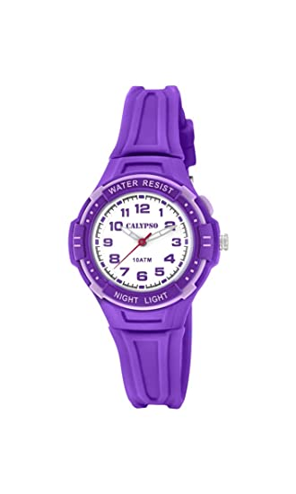 Calypso Reloj Análogo clásico para niñas de Cuarzo con Correa en Plástico K6070/4: Amazon.es: Relojes