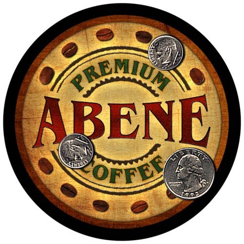Abene Family Name Coffee Rubber Drink Coasters - 4 for sale  Delivered anywhere in USA