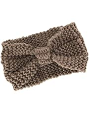 ESUPPORT Women Warm Headband Knit Crochet Headwrap Winter Ear Warmer Elastic Hair Band Sport Accessories Workout Yoga