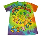Grateful Dead Spiral Bears Men's Tie Dye T-Shirt (Small)