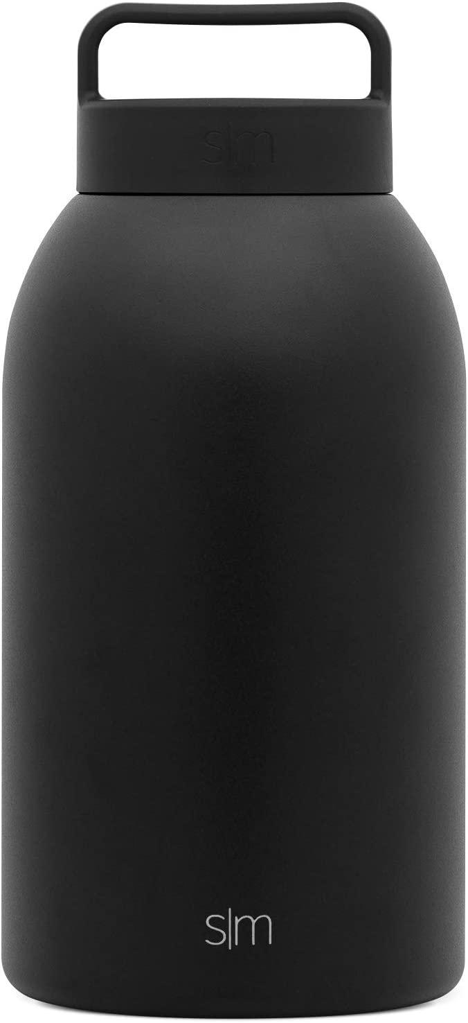Simple Modern Provision Insulated Food Jar with Handle Lid - 64oz Vacuum Insulated Stainless Steel Thermos Leak Proof Storage Container Flask for Adults, Men and Women -Midnight Black