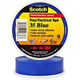Scotch Vinyl Color Coding Electrical Tape 35, 3/4 in x 66 ft, Blue