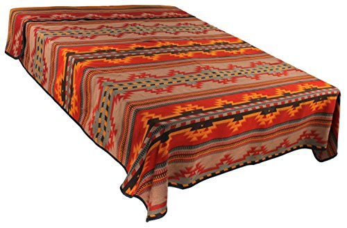 Hampton Bed Inn (Splendid Exchange Southwestern Bedding Bonita Collection, Mix and Match, Queen/Full Size Reversible Bedspread, Bonita Red and Yellow)