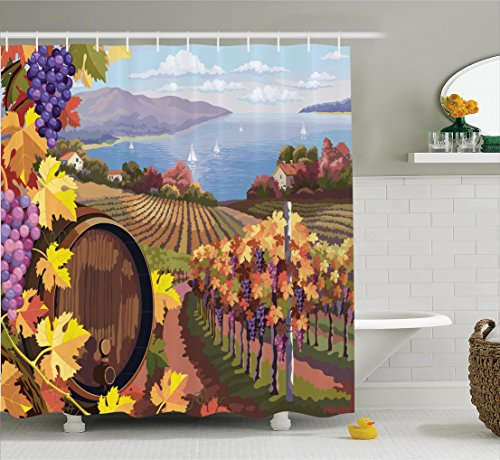 wine and grapes curtains - 6