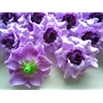 100-Silk-Purple-Roses-Flower-Head-175-Artificial-Flowers-Heads-Fabric-Floral-Supplies-Wholesale-Lot-for-Wedding-Flowers-Accessories-Make-Bridal-Hair-Clips-Headbands-Dress