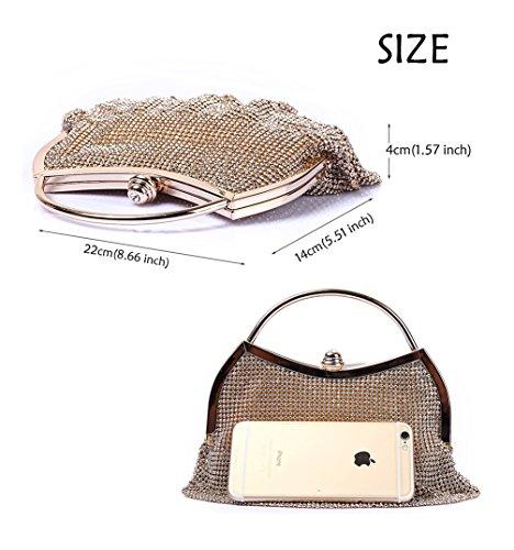 wallet waistbag polyester 2 black Evening Womens wedding Fashion trends HopeEye clutch bag Ywz1Hqw