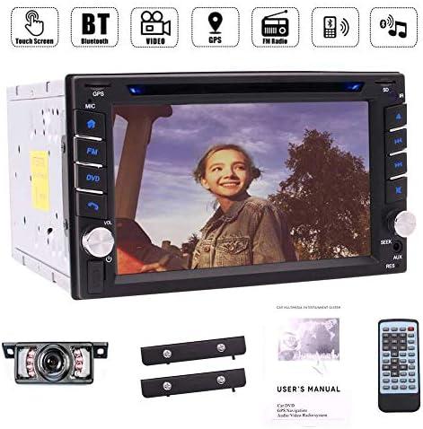 ハンズフリーのためのカーステレオラジオDVDプレーヤーGPSナビゲーション6.2インチのHDタッチスクリーンのサポートBluetoothは、リアビューカメラ+リモコンとUSBのSD RDS AM FMラジオを呼び出します。