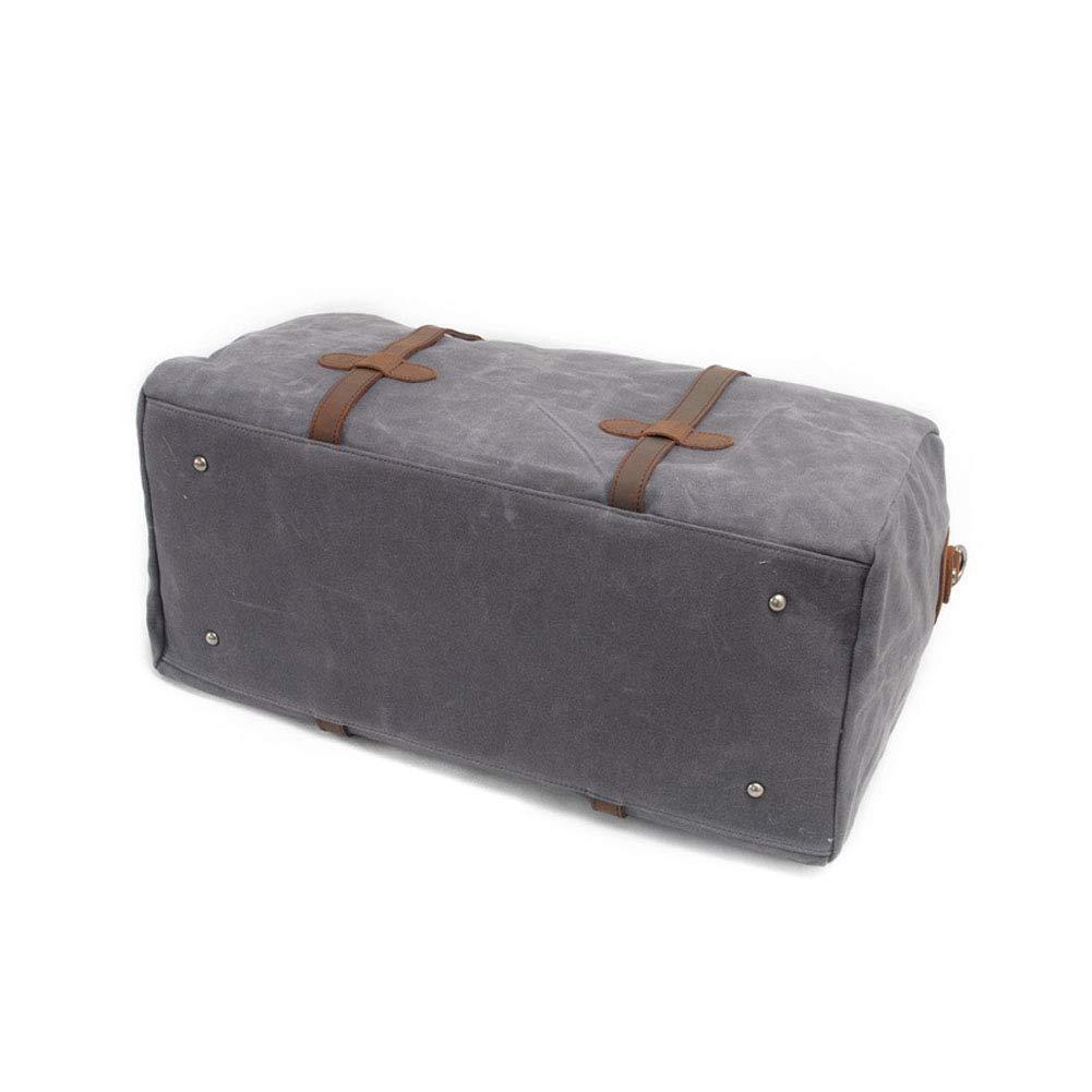 Casual Simple Short-Distance Large-Capacity Messenger Bag HWX Mens Waterproof Oil Wax Canvas Travel Bag