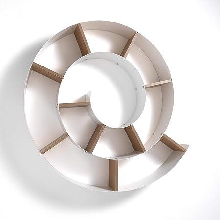 Favoloso Wink Design Mensola da Parete libreria CHIOCCIOLA, Metallo, Bianco QS81