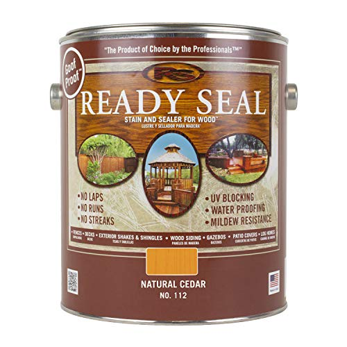 Wood Siding Stain - Ready Seal 112 1-Gallon Can Natural Cedar Exterior Wood Stain and Sealer