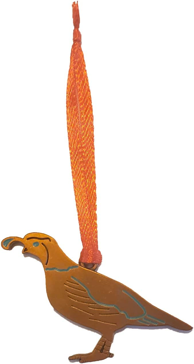 Quail Christmas Ornament Bronze Charm Arizona Souvenir Southwest Gift