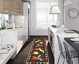 Ottomanson Siesta Collection Kitchen Hot Peppers Design (Machine-Washable/Non-Slip) Runner Rug, 20\