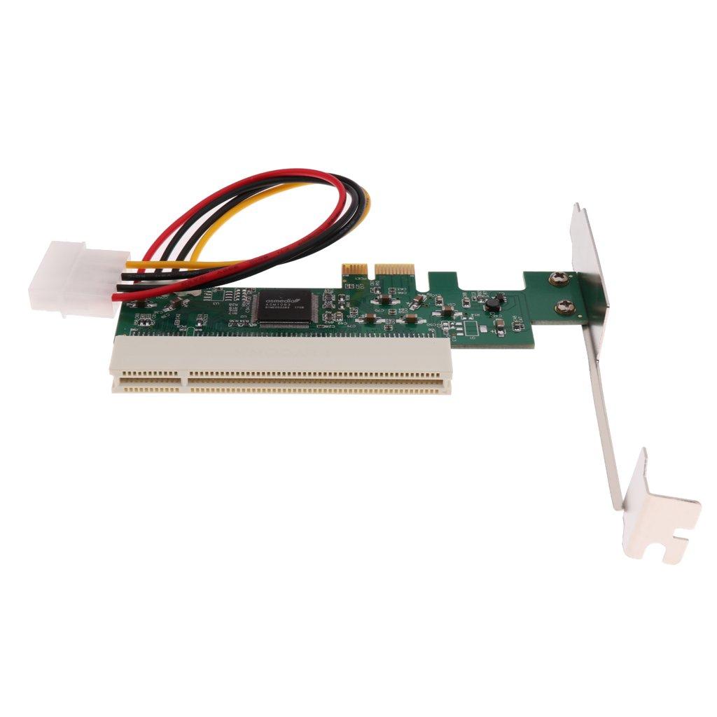 MagiDeal PCIE PCI-Express PCI-E X1 X 4 X8 X 16 To PCI Bus Riser Card Adapter Converter