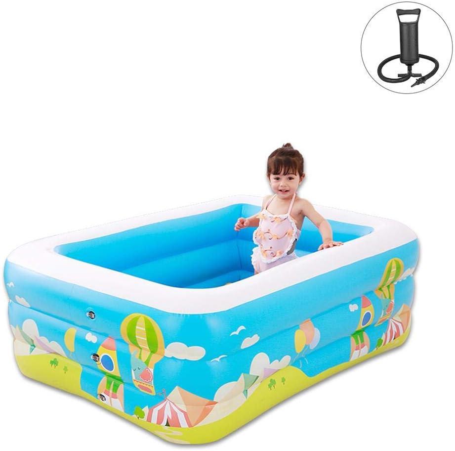 SunniY Piscinas Hinchables Infantiles Bebé Playa Rectangulares 150 × 110 × 50cm, Adecuado para Bebés Y Niños En Baños De Verano.
