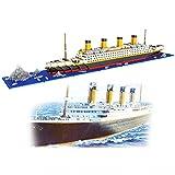 dOvOb Titanic Model Nano Blocks Building Set 1860pcs - Micro Bricks DIY Toys for Kids and Adult (1860pcs)