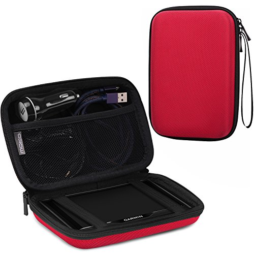 MoKo 5-Inch GPS Carrying Case, Portable Hard Shell Protective Pouch Storage Bag for Car GPS Navigator Garmin / Tomtom / Magellan with 5