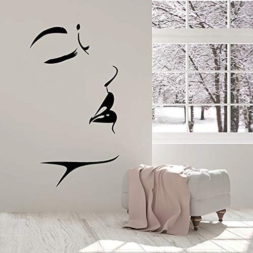sanzangtang Hermosa Mujer Cara Apliques de Pared Abstracto Femenino Maquillaje Estudio salón de Belleza decoración Interior,