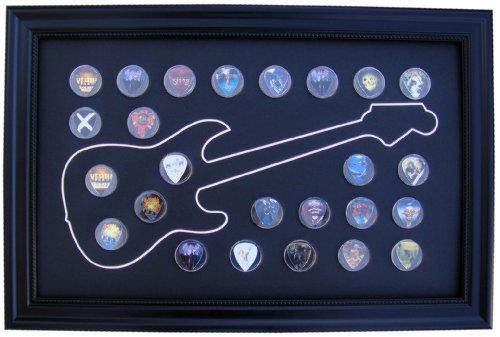 Black Display Frame for Guitar Picks (Not Included), Electric Design ()