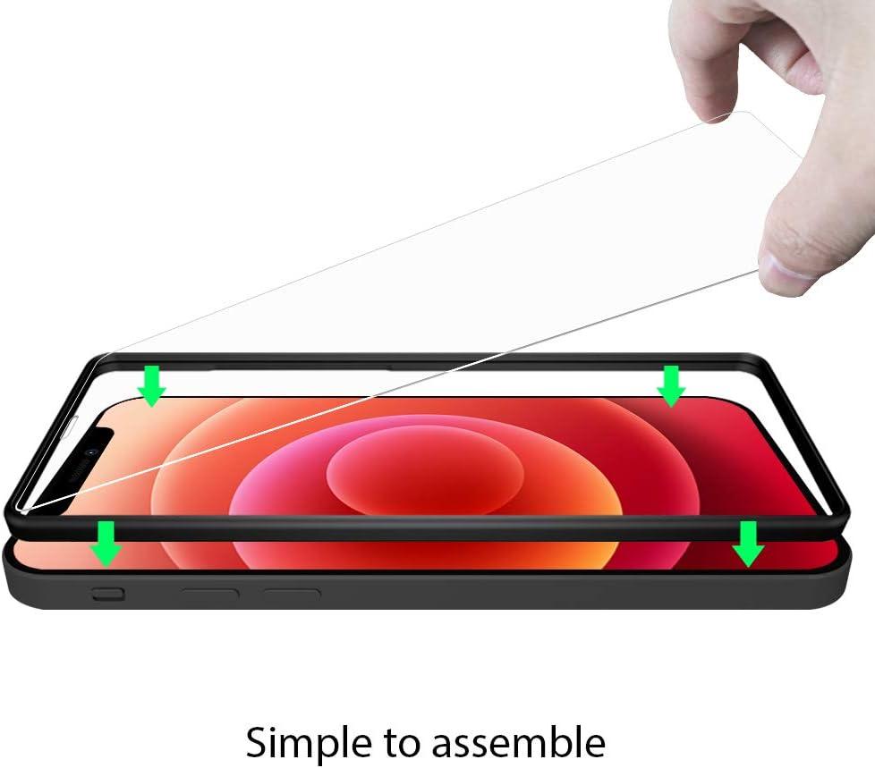 Antihuellas 0.33 mm Ultra Transparente Vidrio Templado Ultra Resistente NEWC 3 Unidades Antiara/ñazos 6.7 Sin Burbujas Protector de Pantalla para iPhone 12 Pro Max Dureza 9H