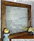 Renewed Décor Farmhouse Mirror in 20 stain colors - Large Wall Mirror - Rustic Modern Home - Home Decor - Mirror - Housewares - Woodwork - Frame - Stained Mirror Available in 3 sizes