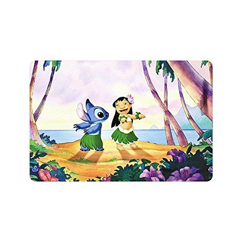 Walt Disney Wallpapers Lilo Stitch Walt-Disney Custom Non Slip Indoor/Outdoor Doormat Floor Mat 23.6X15.7