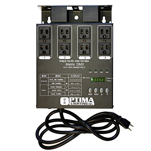 Matrix Dmx 4Ch. Double Output Dimmer Pack Optima Lighting