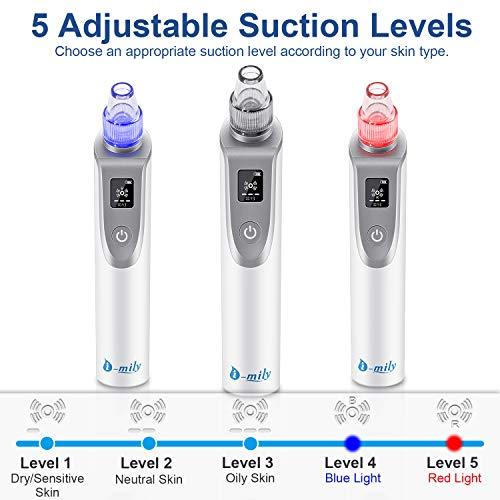 Blackhead Remover Blackhead Vacuum - Pore Vacuum Cleaner Electric Suction Facial Comedo Acne Extractor Tool with LED Display for Women & Men (white) (1)