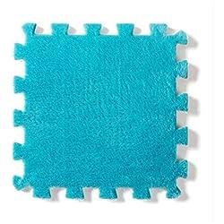 Children Crawling Mats EVA Foam Play Interlocking Puzzle Mat Flannel Rug Floor Carpet Non-slip Baby Developing Games Carpets Blue