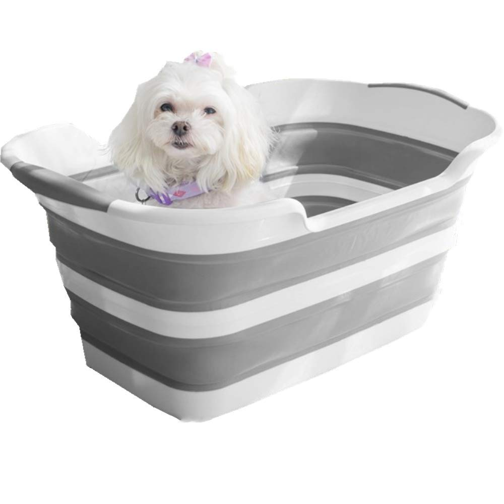 UPSTONE Collapsible pet Bath Laundry Basket - Foldable Plastic Laundry Hamper - Large Pop-Up Clothes Baskets - Space Saving Folding Hampers for Dorm Room