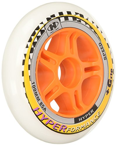 (HYPER HYPERFORMANCE 100MM/85A (8 WHEELS per pack) - inline skate wheels for speed skating)