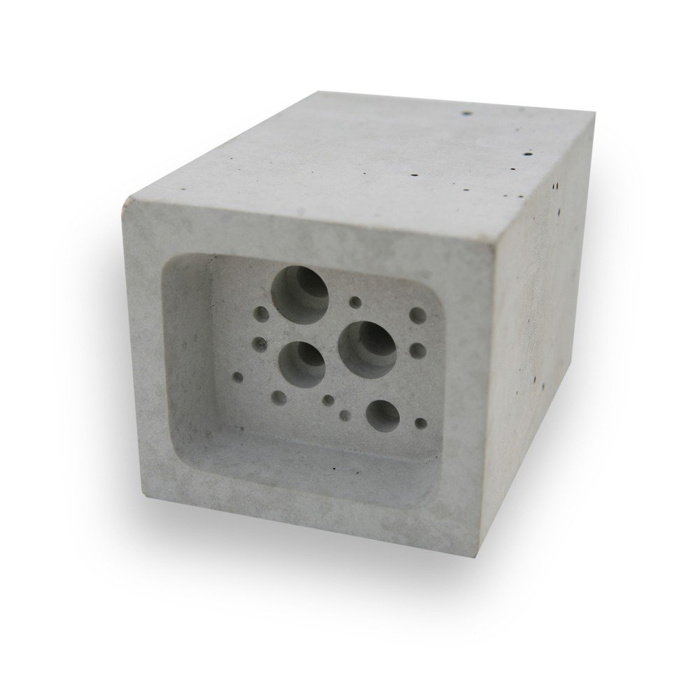 Small Bee Block Nester Hotel Solitary Bee Hive House 6.5cm x 7cm x 10.5cm Green And Blue