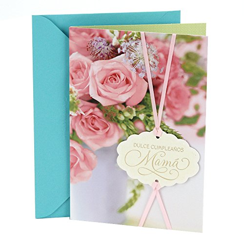 Hallmark Vida Spanish Birthday Greeting Card to Mother (Pink Roses)