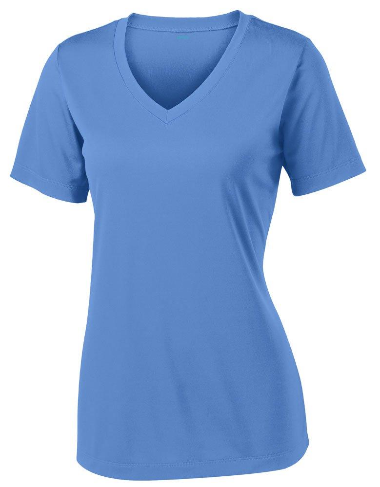 Opna Women's Short Sleeve Moisture Wicking Athletic Shirt, X-Large, Carolina Blue