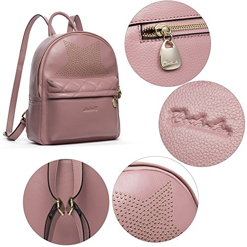 School for Beige amp; Casual Leather Women pink 4 Girls Purse BOSTANTEN Travel Backpack Shoulder Daypack Bags Pt0wOn
