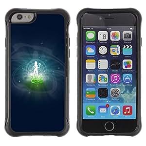 ZAAAZ Rugged Armor Slim Protection Case Cover Durable Shell - Virgo Zodiac Sign - Apple Iphone 6