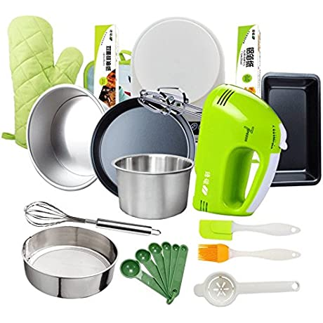 Electric Hand Mixer 7 Speed With Built In Storage Case 100 Watt Power Egg Beater Handheld Kitchen Mixer Stainless Steel Beaters Blades Electronic Compact Mini Small Lightweight Bakeware Set