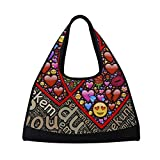 OSBLI Gym Bag Sports Heart Couple Emoticons Travel Shoulder Bag Duffel Bag for Men and Women