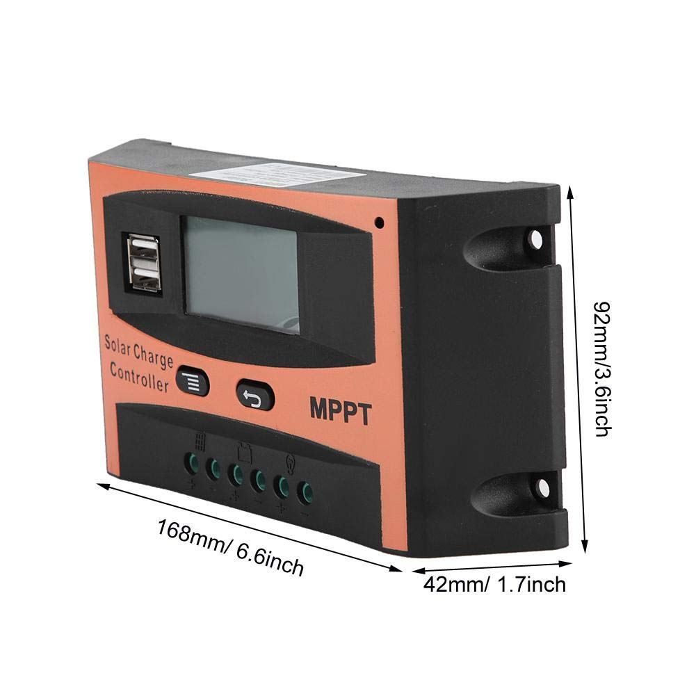 60A MPPT Solar Panel Regulador 12V//24V MPPT Solar Charge Controller LCD Screen Auto Battery Controller