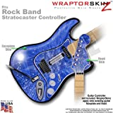Stardust Blue WraptorSkinz Skin fits Rock Band Stratocaster Guitar for Nintendo Wii, XBOX 360, PS2 and PS3 (GUITAR NOT INCLUDED), Best Gadgets
