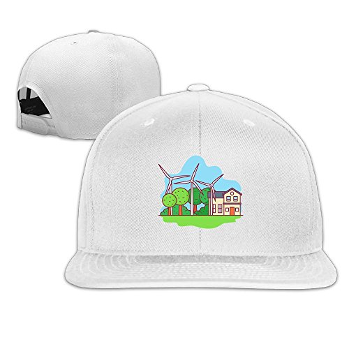 (Windmill Comfortable Flat Baseball Caps For Kids Timeless Great For Sports Workout Sunmmer Hat)