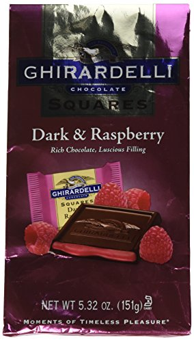 Ghirardelli Dark Chocolate Raspberry Squares, 5.32 Ounces