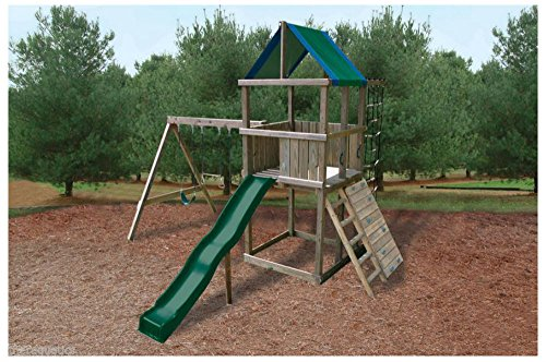 Swing-N-Slide Green Blue Replacement Tarp Roof Shade Playground Plastic Swingset (Playset Roof Tarp)