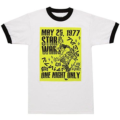 Dance Ringer (Star Wars Han Dance Rock Poster Ringer Adult T-shirt - White (XX-Large))