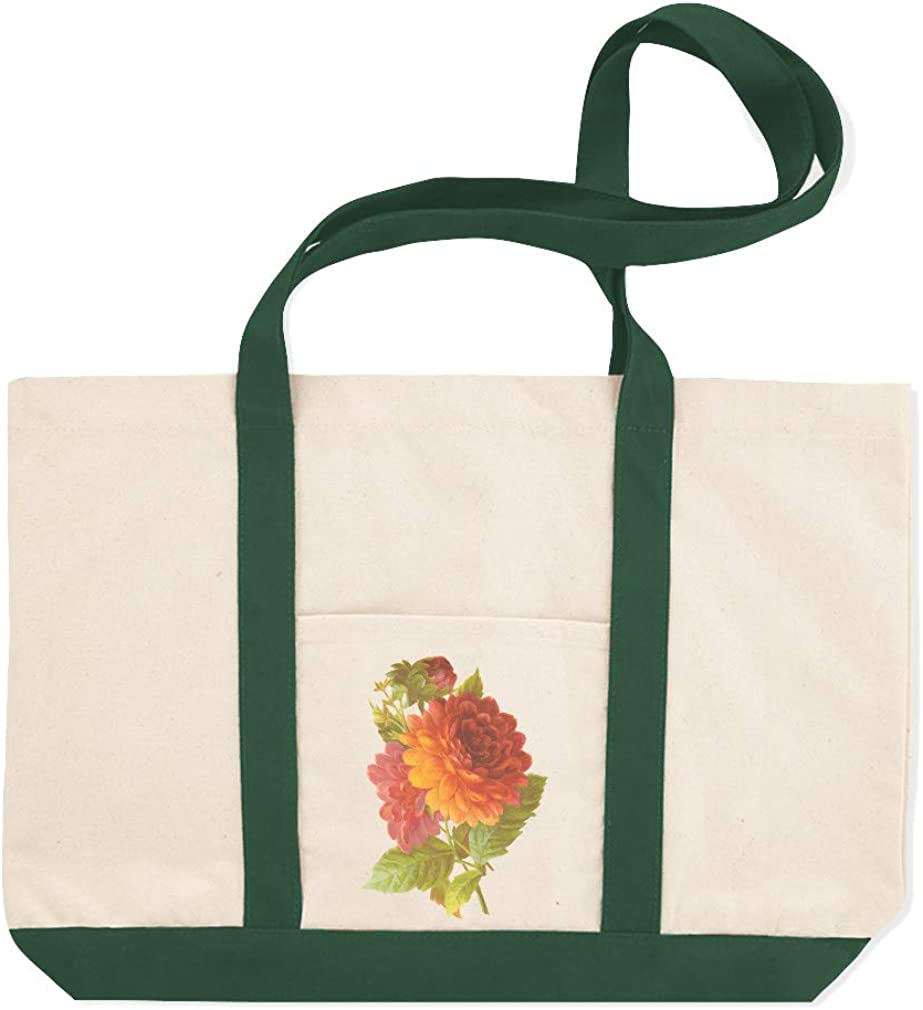 Canvas Shopping Tote Bag Red and Orange Asters Botanical /& Flowers Asters Beach for Women