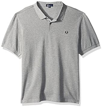 Fred Perry Men's Plain Shirt, Steel Marl, X-Small